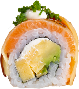 Foto Flamed Cheese salmon roll