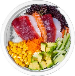 Foto Rainbow Poke Bowl